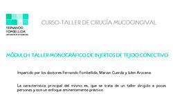 MODULO II: TALLER MONOGRÁFICO DE INJERTOS DE TEJIDO CONECTIVO