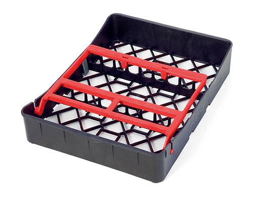 PractiPal Tray 9 Instrumentos, cierre rojo