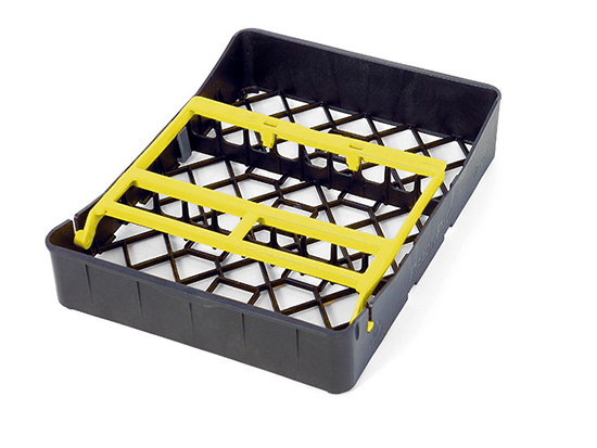PractiPal Tray 9 Instrumentos, cierre amarillo