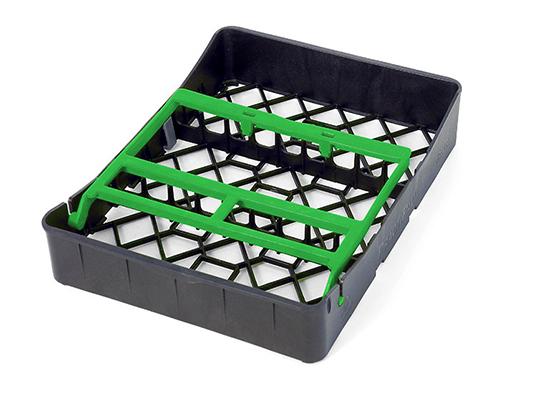 PractiPal Tray 9 Instrumentos, cierre verde