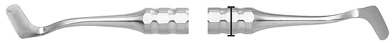 Cuchillo Kramer Nevins 7 mango 8mm