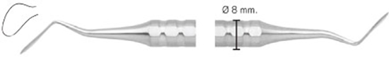 Cuchillo Goldman-Fox GF7 mango 8mm