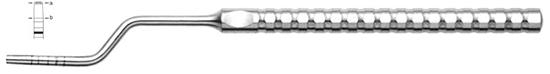 Osteotomo Iglhaut en forma de bayoneta fig. 1