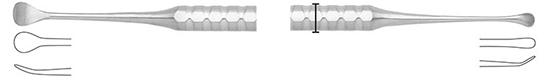 Periostotomo  Molt, cureta para hueso 6mm/3mm