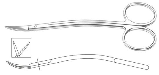Tijera La Grange 11,5cm dentada