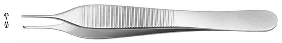 Pinza Micro-Adson modelo fino, diam.0.8mm. 12cm