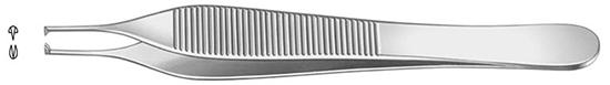 Pinza Adson diam.1.5mm, 12cm Con Dientes