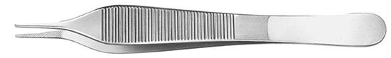 Pinza Micro Adson de acero inox. 12cm
