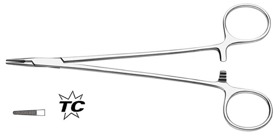 Porta-agujas Microvascular 15cm, 1.8mmTC (4/0,5/0)