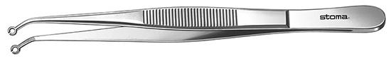 Pinza para suturas, diam.1,6mm., 16cm.