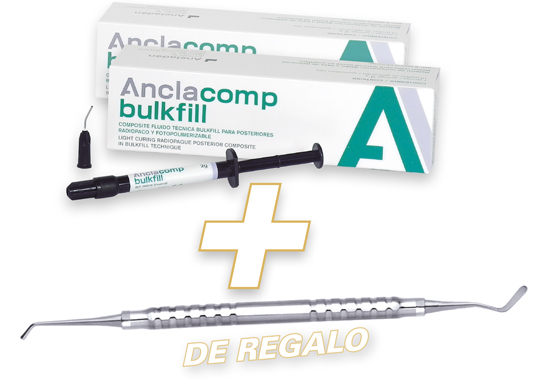 2 Anclacomp bulkfill + REGALO espátula Goldstein