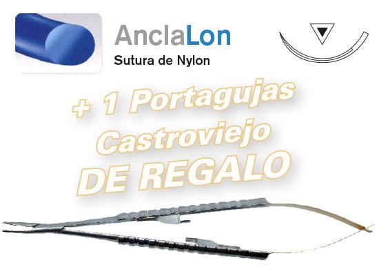 2 cajas Sutura AncaLon DSM 16 - 4/0  + REGALO Portagujas Castroviejo