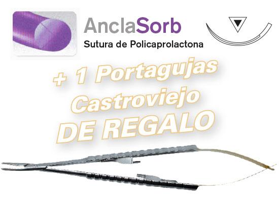 2 cajas Sutura AncaSorb DSM 16 - 5/0  + REGALO Portagujas Castroviejo